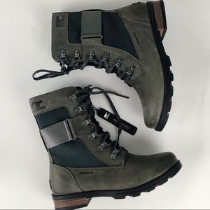 Sorel Conquest Waterproof Combat lace up Boots